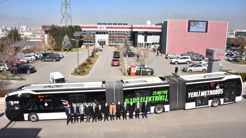 Yüzde Yüz Elektrikli Yerli Metrobüs Ankara Caddelerinde